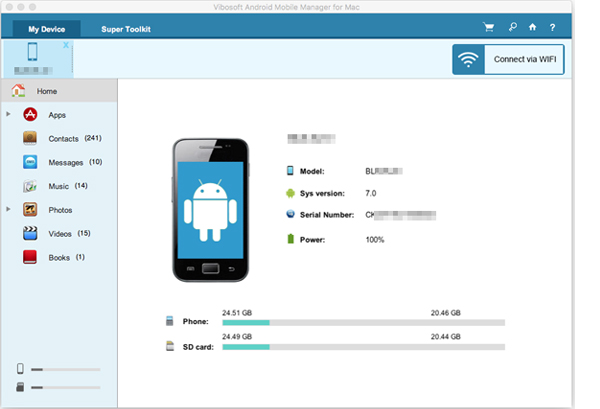 Android Mobile Manager for Mac