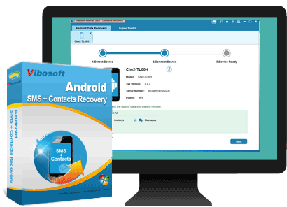 Android SMS+Contacts Recovery main feature