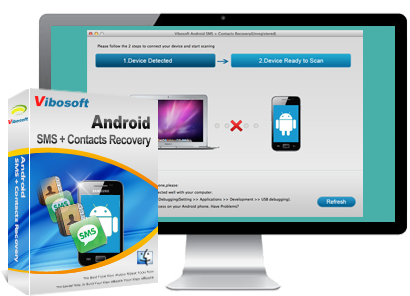 Android SMS+Contacts Recovery Mac main feature