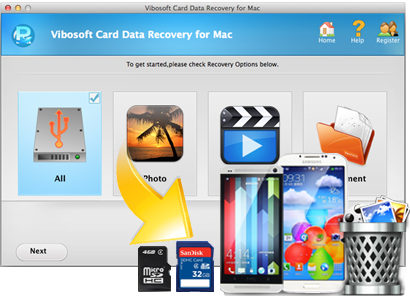 Card data recovery main feature