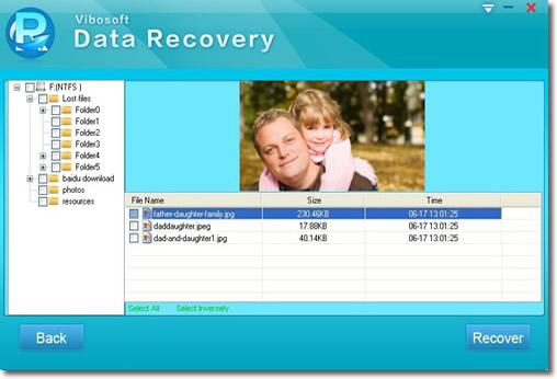 Recover Files Seletively.