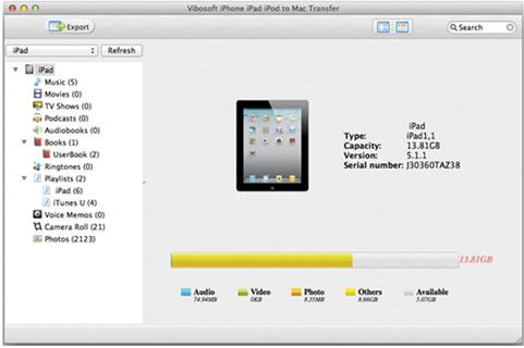 launch the iPhone photos transfer for mac