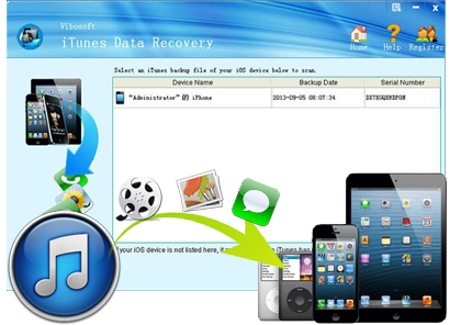 iTunes recovery banner